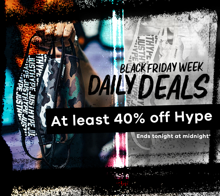At least 40% off Hype