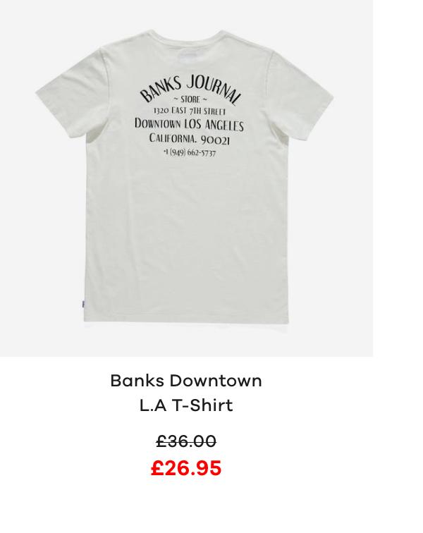 Banks Downtown L.A Short Sleeve T-Shirt
