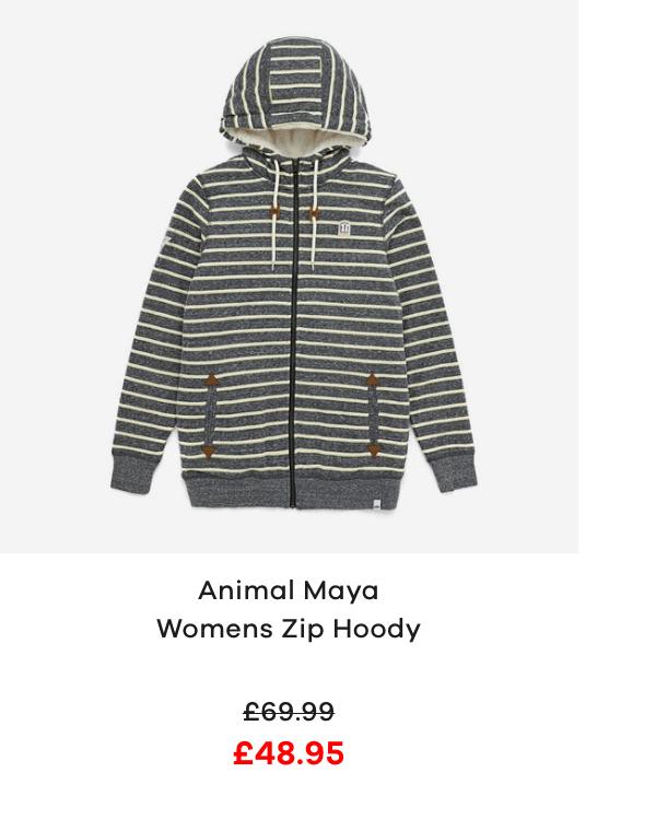 Animal Maya Womens Zip Hoody