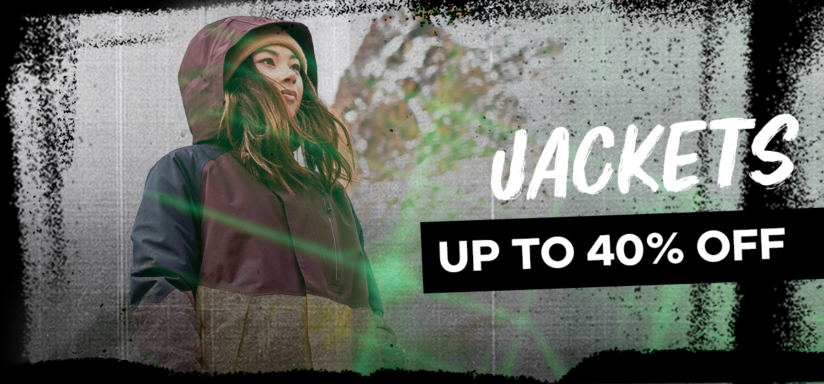 Jackets Up to 40% off